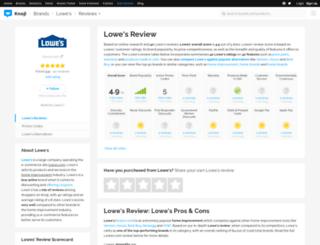 lowes.knoji.com screenshot
