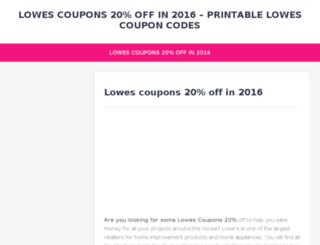 lowes3.coupononlinecode.com screenshot