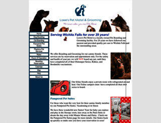 lowespetmotel.com screenshot
