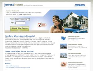 lowestinsure.com screenshot