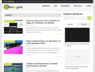 lowfatgeek.com screenshot