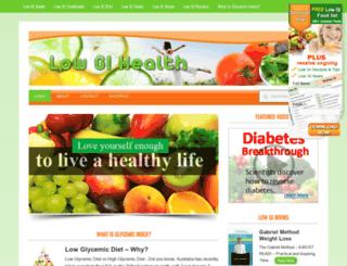 lowgihealth.com.au screenshot