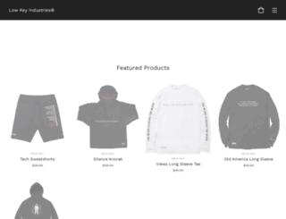 lowkeyltd.bigcartel.com screenshot
