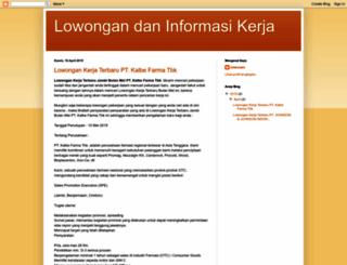 lowongan-dan-informasi.blogspot.com screenshot