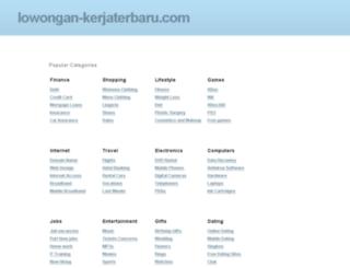 lowongan-kerjaterbaru.com screenshot