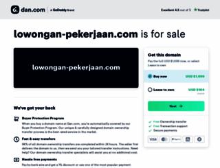 lowongan-pekerjaan.com screenshot