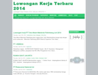 lowongankerjahot.com screenshot