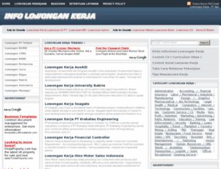 lowongannews.com screenshot