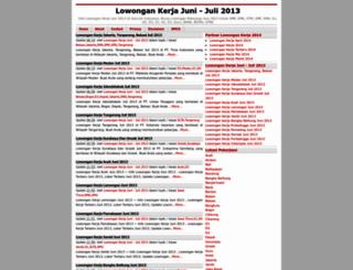 lowonganpekerjaanjuni.blogspot.com screenshot