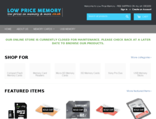 lowpricememory.co.uk screenshot
