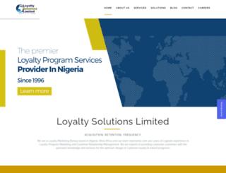 loyaltysolutionsnigeria.com screenshot