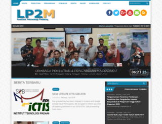 lp2m.itp.ac.id screenshot