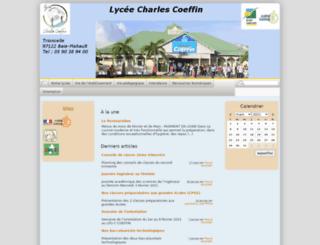 lpo-charlescoeffin.ac-guadeloupe.fr screenshot
