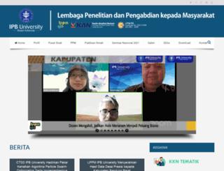lppm.ipb.ac.id screenshot