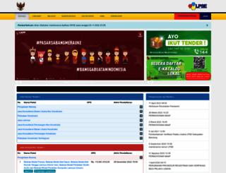 lpse.bandungkab.go.id screenshot
