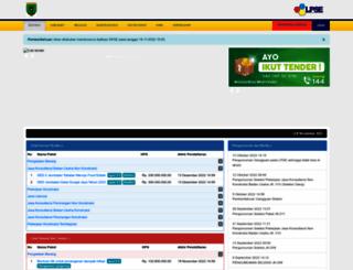 lpse.baritoselatankab.go.id screenshot