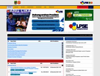 lpse.bekasikab.go.id screenshot
