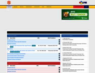 lpse.bps.go.id screenshot
