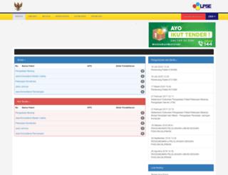 lpse.indramayukab.go.id screenshot