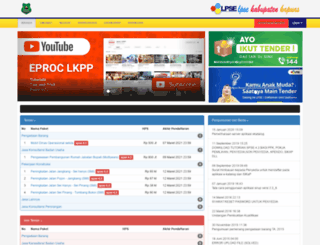 lpse.kapuaskab.go.id screenshot