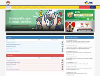 lpse.kemhan.go.id screenshot