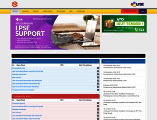lpse.parigimoutongkab.go.id screenshot