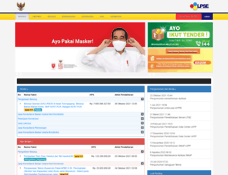 lpse.tulungagung.go.id screenshot