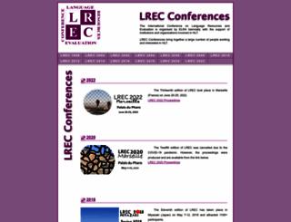 lrec-conf.org screenshot