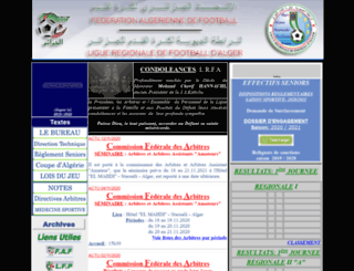 lrfa.org.dz screenshot