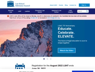 lsac.org screenshot