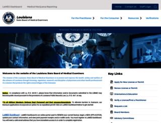 lsbme.louisiana.gov screenshot