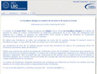 lsc-elearning.lu screenshot