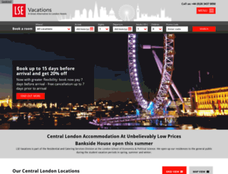 lsevacations.co.uk screenshot