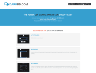 lsr-gaming.darkbb.com screenshot