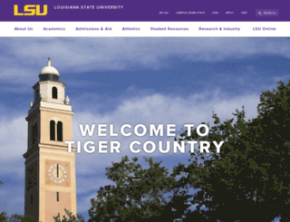 lsu.edu screenshot