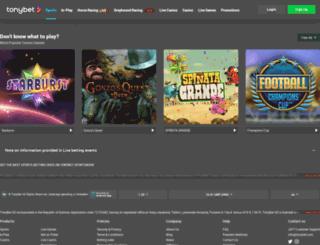 lt.tonybet.com screenshot