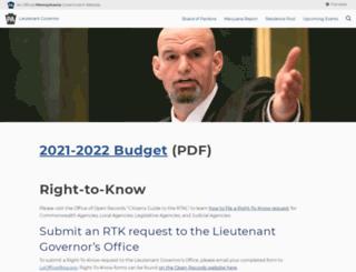 ltgovernor.pa.gov screenshot