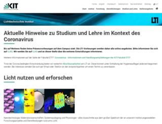 lti.kit.edu screenshot