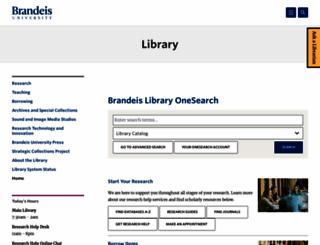 lts.brandeis.edu screenshot