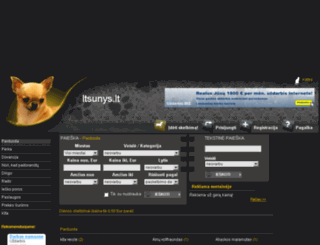 ltsunys.lt screenshot