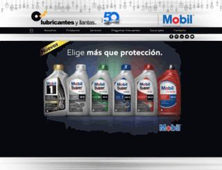lubricantesyllantas.mx screenshot