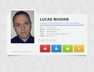lucasbuisine.com screenshot