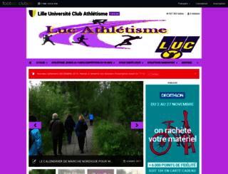 lucathle.clubeo.com screenshot