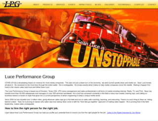 luceperformancegroup.com screenshot