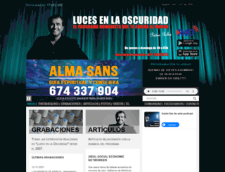 lucesenlaoscuridad.es screenshot