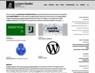 lucianogiustini.org screenshot