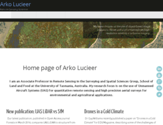 lucieer.net screenshot