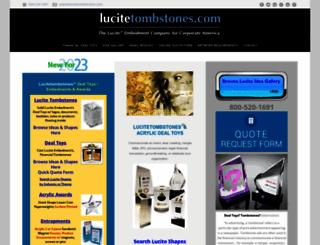 lucitetombstones.com screenshot