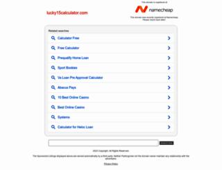 lucky15calculator.com screenshot