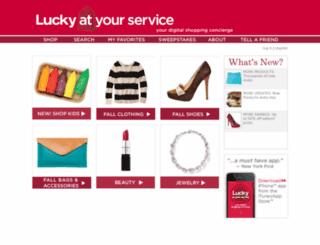 luckyatyourservice.luckylookout.com screenshot
